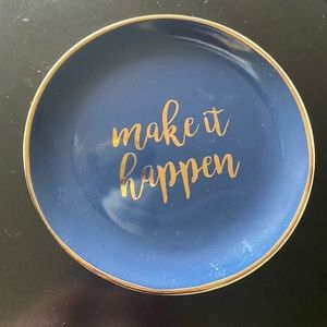  3/$10 Make it happen decor plate